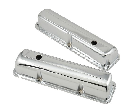 9412 - Chrome valve covers w/baffle for 1958-76 Ford 332-428 FE engines. Image