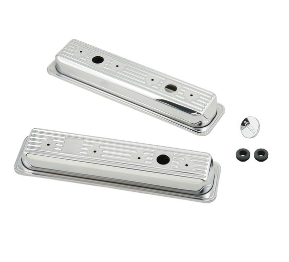 9415 - Chrome valve covers for 1987-97 Chevy small block 305-350 engines. Image