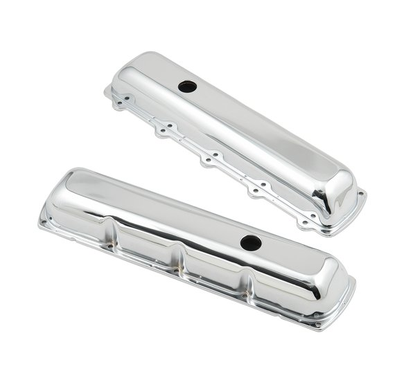 9422 - Chrome valve covers w/o baffle for 1964-90 Oldsmobile 260-455 engines. Image