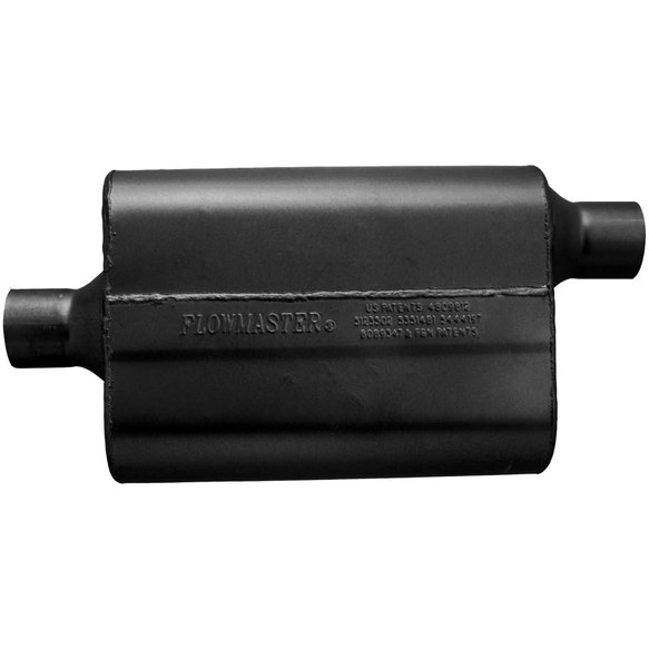 942442 - 40 Delta Flow Muffler - 2.25 Center In / 2.25 Offset Out - Aggressive Sound - additional Image
