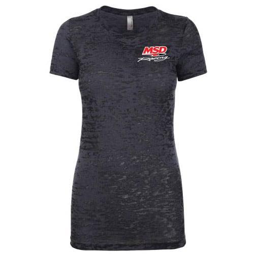 94572 - MSD Racing, Ladies' Burnout T-Shirt, Black, Medium Image