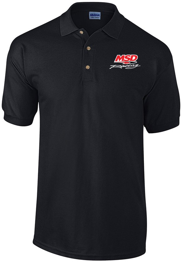 95102 - MSD Racing Polo Shirt, Black, Large Image