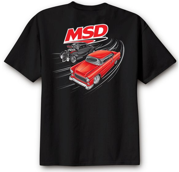 95126 - MSD Racer T-Shirt, Black, Large Image