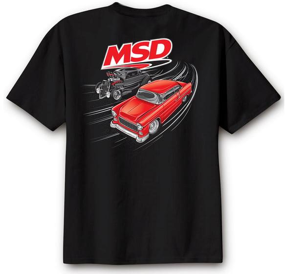 95136 - MSD Racer T-Shirt, Black, X-Large Image