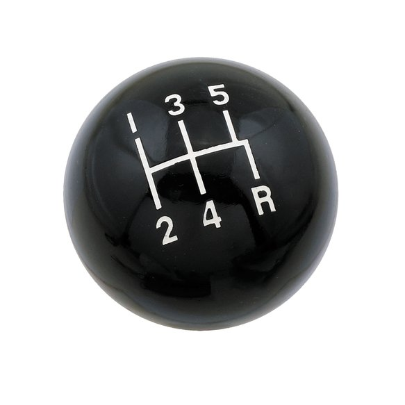 9626 - Mr. Gasket Shifter Knob - 5-Speed - Classic - Round - Black - Fits 3/8-16 UNC Threaded Sticks Image