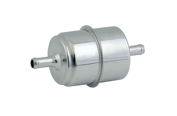 mr gasket chrome fuel filter fits 5 16\