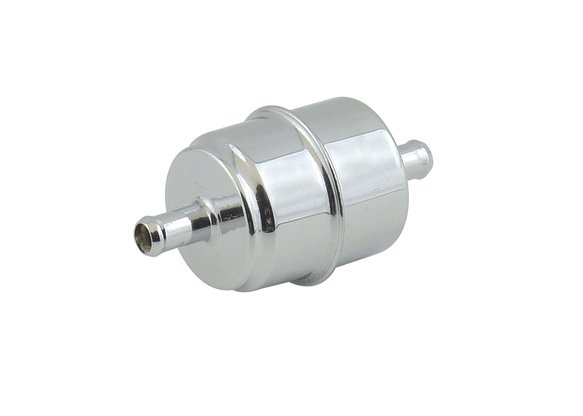 9746 - Chrome Fuel Filter - Fits 3/8