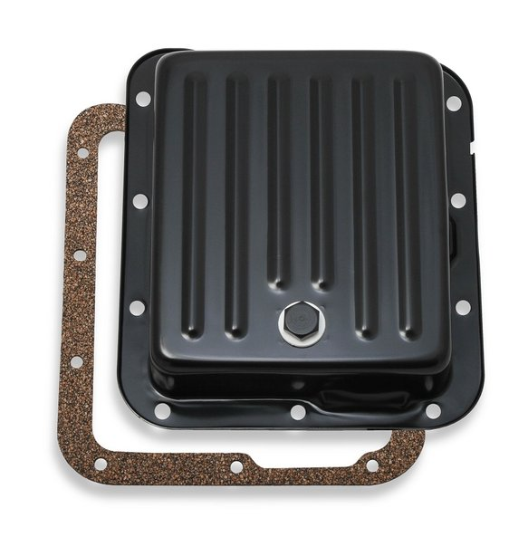 9755BMRG - Mr. Gasket Transmission Oil Pan - Black Steel Image