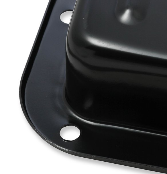 9755BMRG - Mr. Gasket Transmission Oil Pan - Black Steel - additional Image