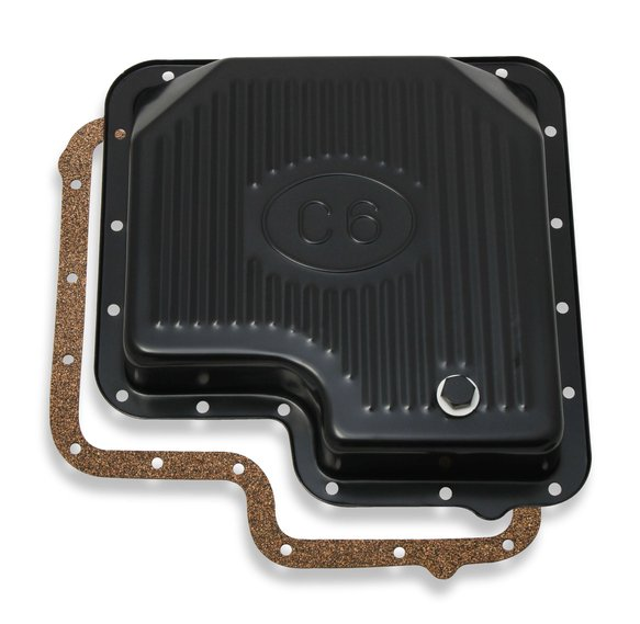 9756BMRG - Mr. Gasket Transmission Oil Pan - Black Steel Image