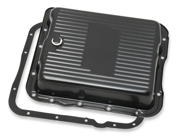 9767BMRG - Mr. Gasket Transmission Oil Pan - Black Steel Image
