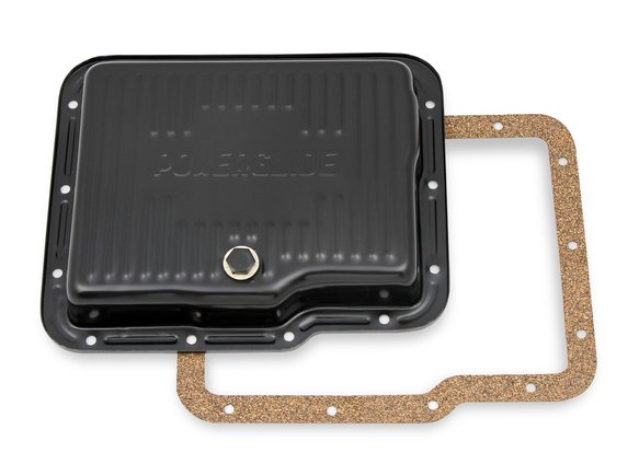 9769BMRG - Mr. Gasket Transmission Oil Pan - Black Steel Image