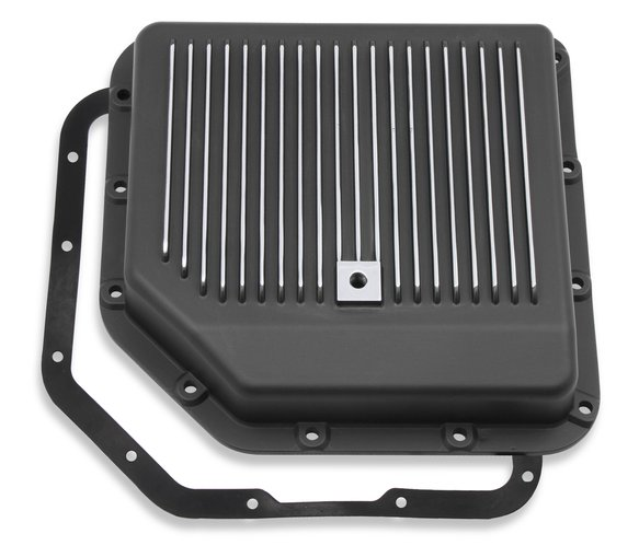 9795BMRG - Mr. Gasket Transmission Oil Pan - Black Aluminum Image