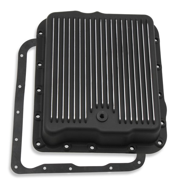 9797BMRG - Transmission Oil Pan - Black - GM 700R4/4L60/4L60E Image