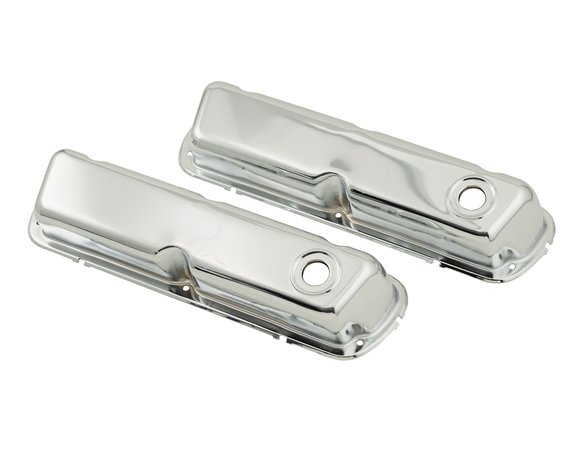 9804 - Chrome valve covers for 1962-85 260-351W small block Ford engines. Image