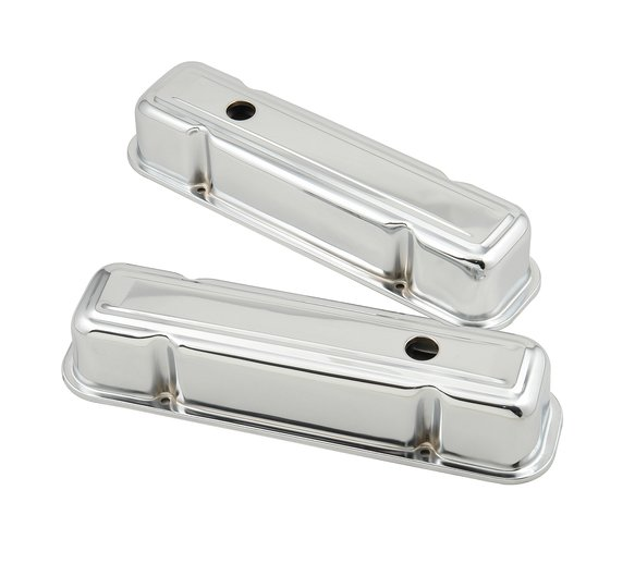9805 - Chrome tall-style valve covers for 1959-81 Pontiac 301-455 engines. TALL Image