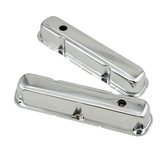 9806 - Chrome tall-style valve covers for 1964-91 Chrysler small block 273-360 engines. Image