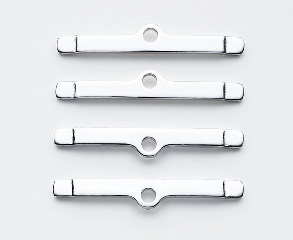 9817 - Valve Cover Clamps - Long Style - Chrome Image