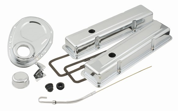 9834 - Dress Up Kit- Small Block Chevy 1958-1985 - with Timing Cover - Chrome Image