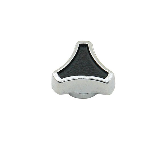 9862 - Air Cleaner Nut - Small Tri Bar Spinner - 1/4-20 - 5/16-18 - Chrome and Black Image