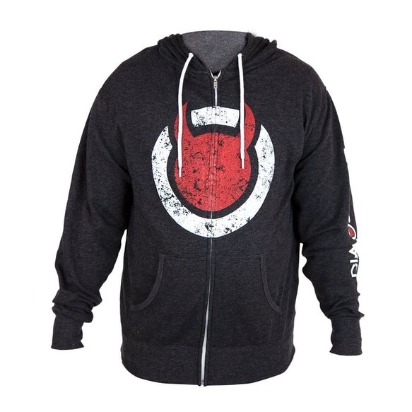 G1140 - DiabloSport Zip-Up Hoodie - Charcoal Image