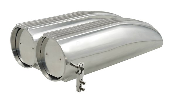 8008MRG - Air Scoop - Double Barrel - Shotgun Style Scoop - Polished Aluminum Image