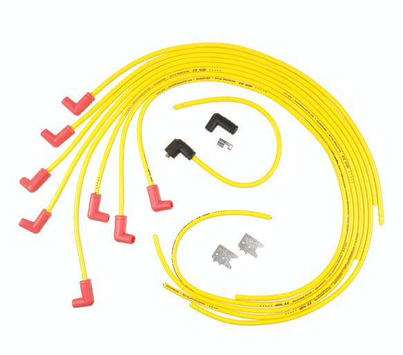 8021ACC - Spark Plug Wire Set - 8.8mm - Universal 90° Boots - Yellow Image