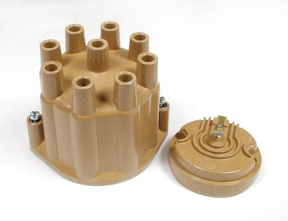 8120ACC - Distributor Cap & Rotor Kit - Female Socket Style - Tan Image