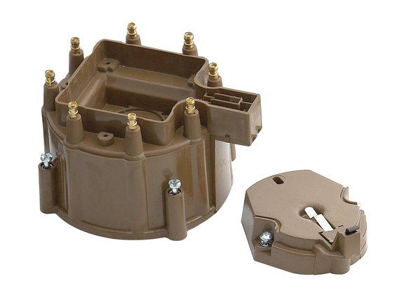 8122 - Distributor Cap and Rotor Kit - HEI Style - Tan Image