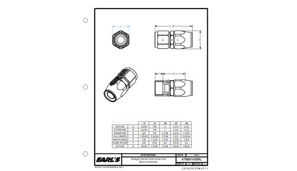 AT800110ERL - Earls Swivel-Seal® Hose End - additional Image