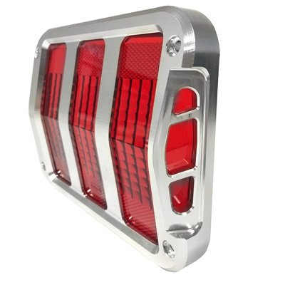 B-13489-C - Scott Drake 1964-66 Mustang Sidewinder™ Billet Tail Light Bezels Image