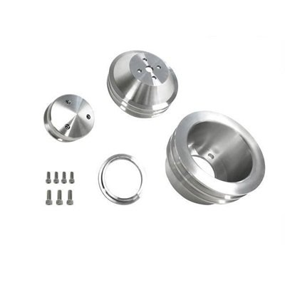 B-F102 - Scott Drake 65-69 289-302 Billet Pulley Kit Double Groove Image