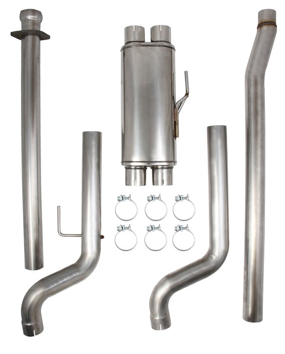 BH3356 - Hooker BlackHeart Mid-Pipe and Muffler Assembly Image