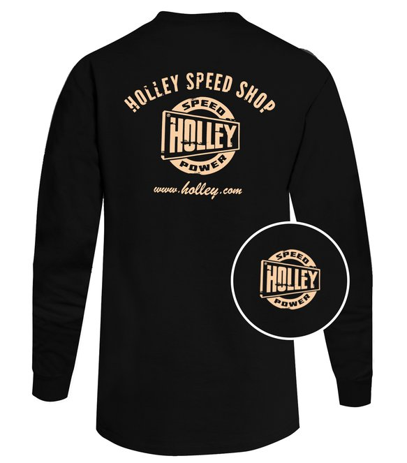 10047-XXLHOL - Black Holley Speed Shop Long Sleeve Tee Image