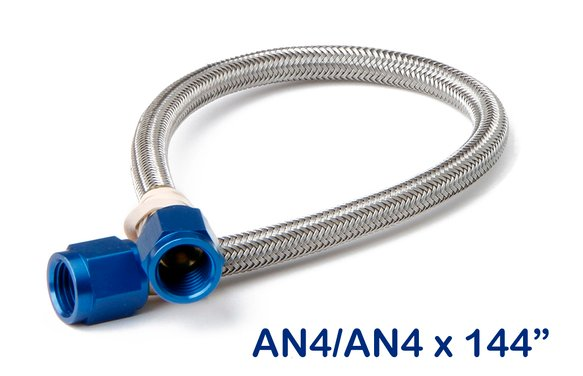 15290NOS - NOS Stainless Steel Braided Hose -4AN 12-foot Blue Image