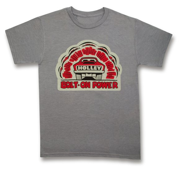10165-SMHOL - Gray Holley Bolt-On Power Tee Image