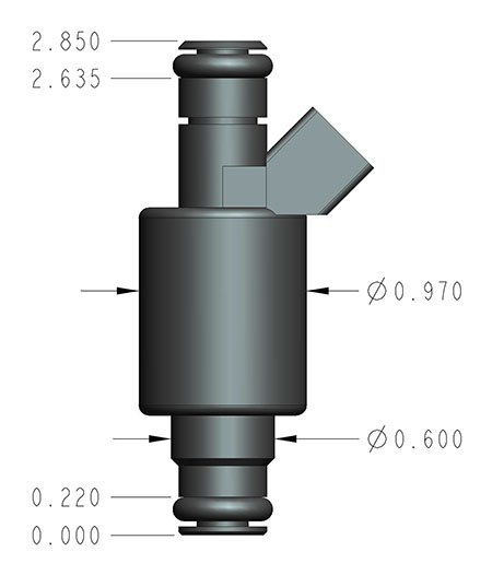 522-191 - 19 lb/hr Performance Fuel Injector - Individual - additional Image