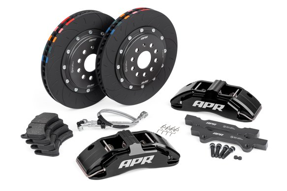 BRK00002 - APR Brakes - 350x34mm 2 Piece 6 Piston Kit - Front - Black - MK7 GTI Image