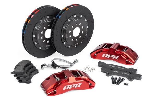 BRK00003 - APR Brakes - 350x34mm 2 Piece 6 Piston Kit - Front - Red - MK7 R Image