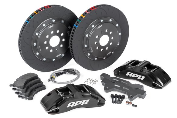 BRK00023 - APR Brakes - 380x34mm 2 Piece 6 Piston Kit - Front - Black - RS3 8V Hatch Image