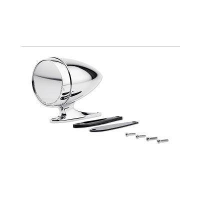 C5RZ-17696-ALC - Scott Drake Chrome Bullet Mirror with Long Base and Convex Glass Image