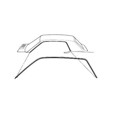 C5ZZ-6551222-3C - Scottt Drake 64-66 Coupe Roof Rail Seal. Also fits 67-68 Mercury Cougar Image