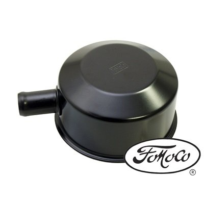 C5ZZ-6766-B - Scott Drake Oil Cap with Tube (FOMOCO Logo, Black) Image
