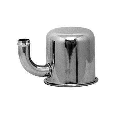 C5ZZ-6766-IR - Scott Drake Oil Cap Push-on, with Elbow Tube (For Closed Emissions, Chrome) Image