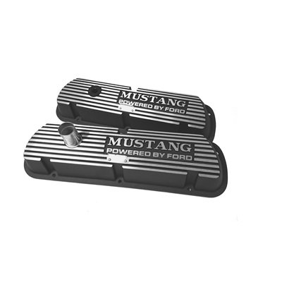 C5ZZ-6A582-A-B - Scottt Drake 1964-73 Mustang, Block Letters Black Valve Covers Image