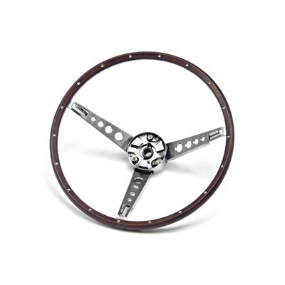 C7OZ-3600-NK - Scott Drake Deluxe Steering Wheel Assembly (Woodgrain) Image