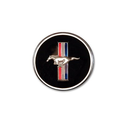 C7ZZ-65044A90-M - Scott Drake 1965-73 Mustang Horn Button and Dash Panel Emblem with Tri-Bar Logo Image