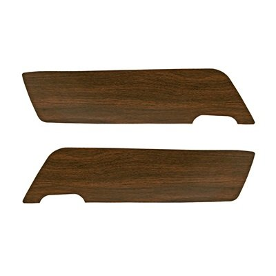 C9ZZ-65237A22-A - Scott Drake 69-70 Walnut Vinyl Door Panel Inserts Image