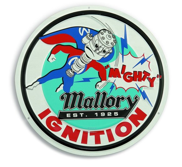 D-10 - Mallory Ignition - Mallory Man Metal Sign Image