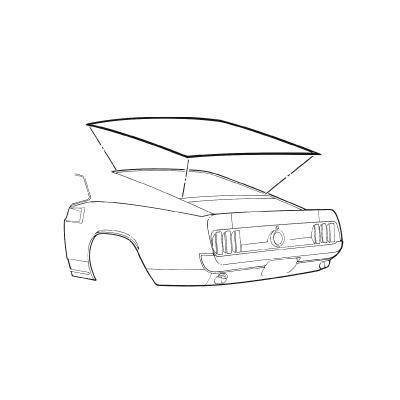 D1ZZ-6342084-A - Scott Drake 71-73 Rear Window Seal (Fastback) Image